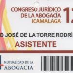 Pedro De La Torre en el 12º Congreso de la Abogacía
